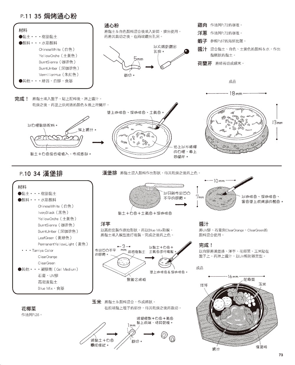 輕鬆作1/12的微型樹脂土美食76道(暢銷版)