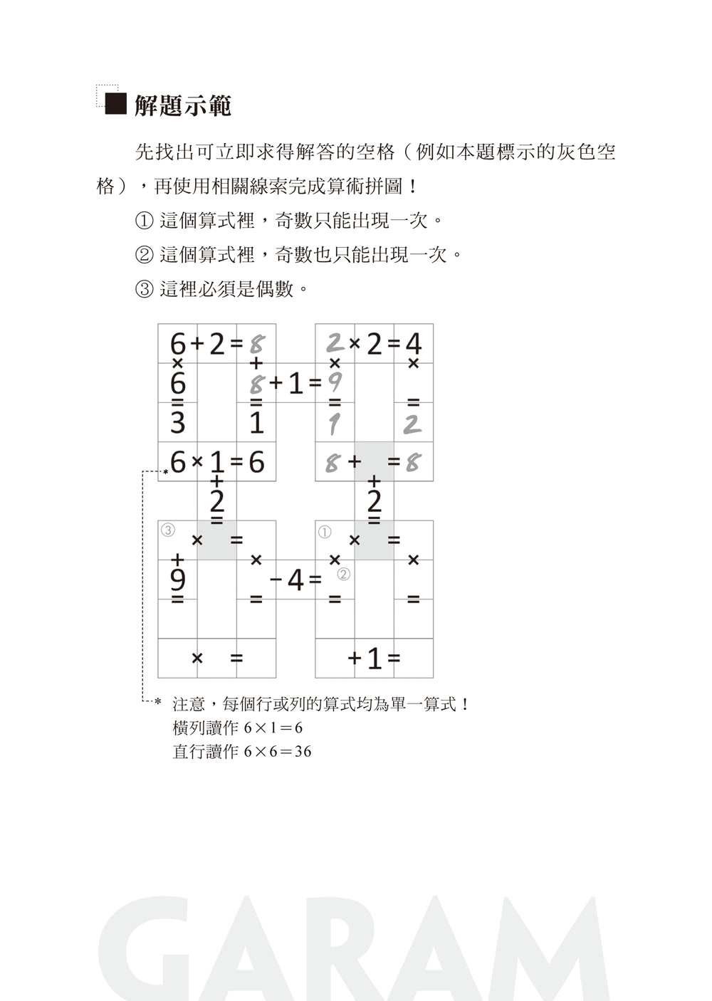 GARAM頂尖的算術拼圖:超直觀高階邏輯運算 激盪、啟發你的數感